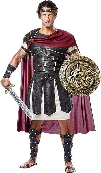 antiker schwarz  goldener Brustpanzer für Herren Römer Gladiator Karneval Faschi