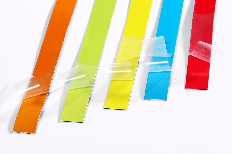 Agenda settimanale 0,5 Meter Scritta del magazzino Datario Targhette magnetiche 0,5 m o 1 m 5 strisce magnetiche scrivibili colorate Magneti per frigorifero Accessori per lavagna bianca