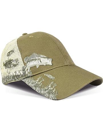 99ee7ba2 Tirrinia Men's Hunting Fishing Hat Adjustable Mesh Ball Cap 3D Embroidered