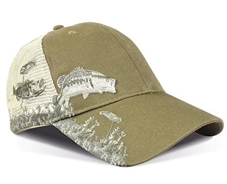 KC Caps Unisex Hunting Cap Bass Embroidery Baseball Hat with Air Mesh Back   Amazon.ca  Sports   Outdoors 8ee3bf2b1e45