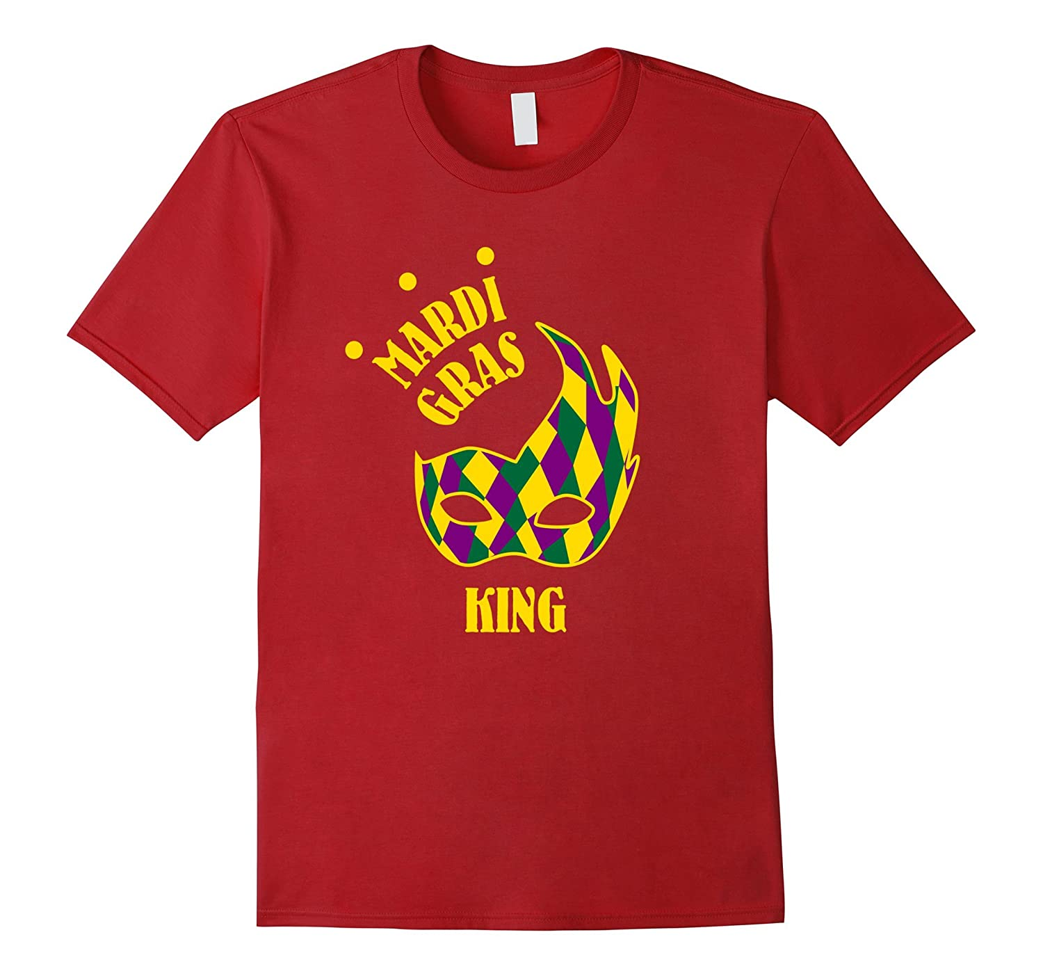 Mardi Gras King Shirt Funny Cute Mask Celebration Party Gift-TJ