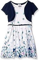 Beautees Little Girls' 2 Pc. Shrug Over Butterfly Skater Dress