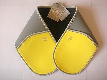 Doble de neopreno Guante de cocina barbacoa – amarillo