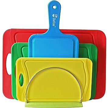 Tabla De Cortar Set De 4 Piezas De Color Por Chefcoo™ - Plásticos Con Estilo