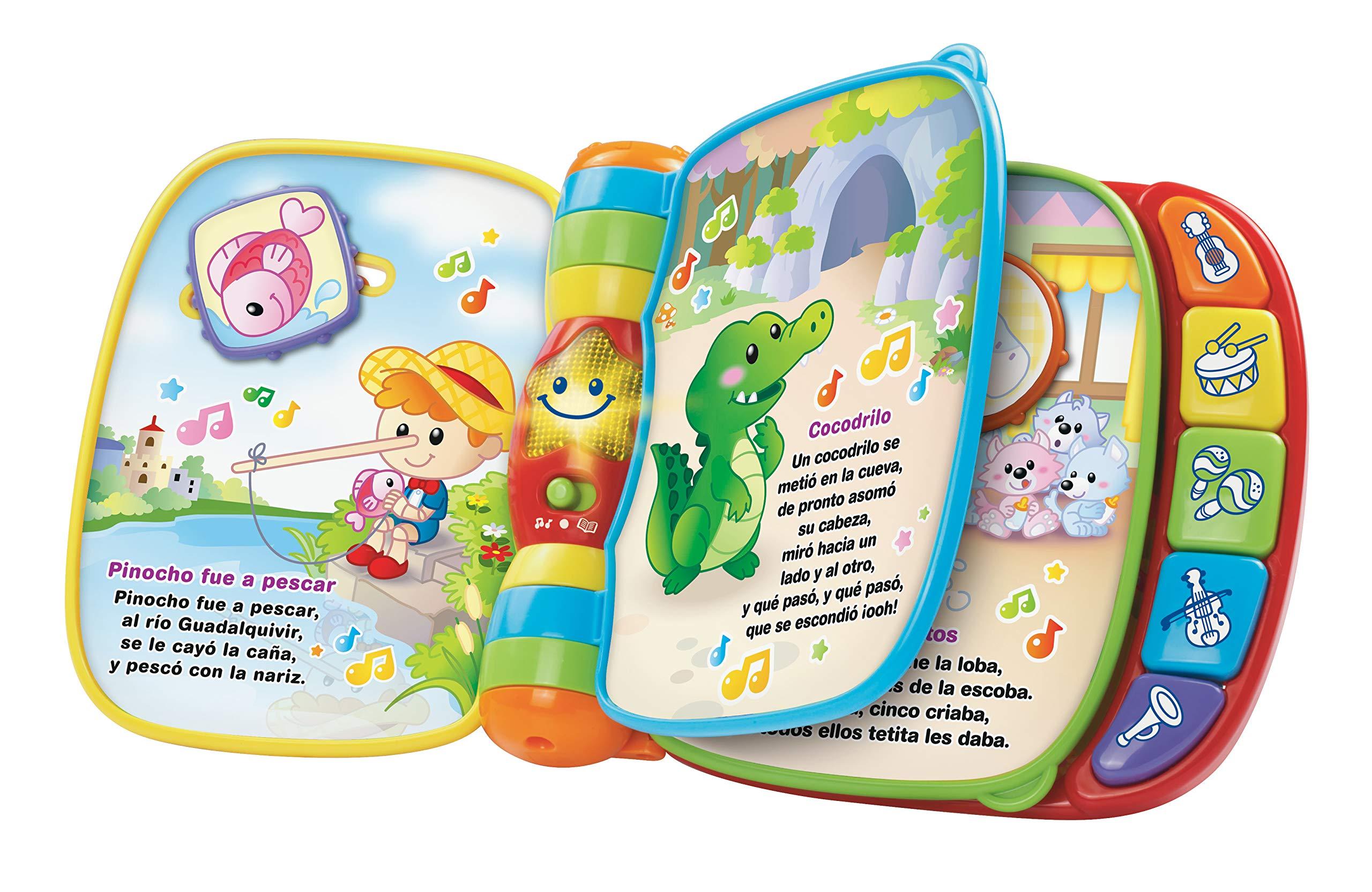 VTech Baby - Primeras canciones, Libro musical infantil con canciones populares para niños, botones