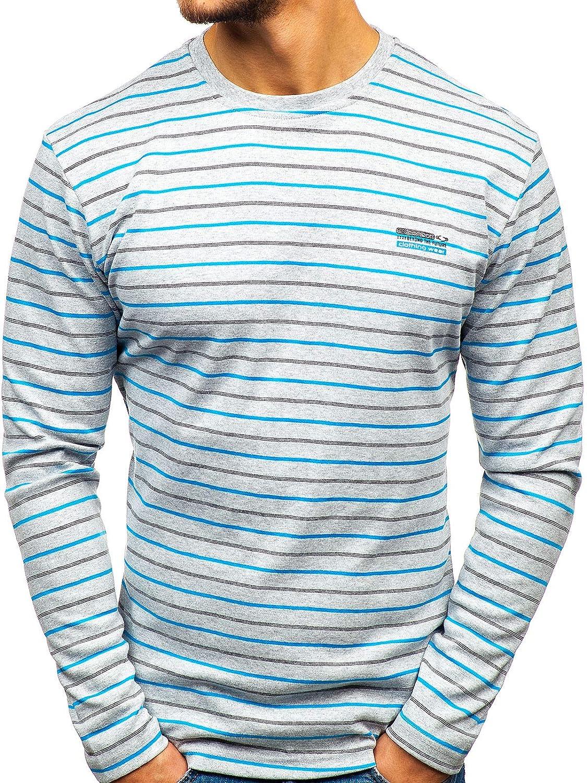 BOLF Hombre Camiseta de Manga Larga B/ásica Escote Redondo Estilo Urbano 1A1