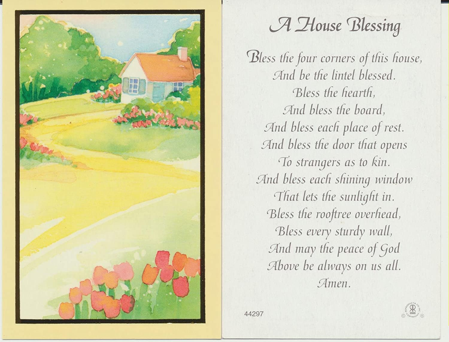 House Blessing Greetings Images - greetings card design simple