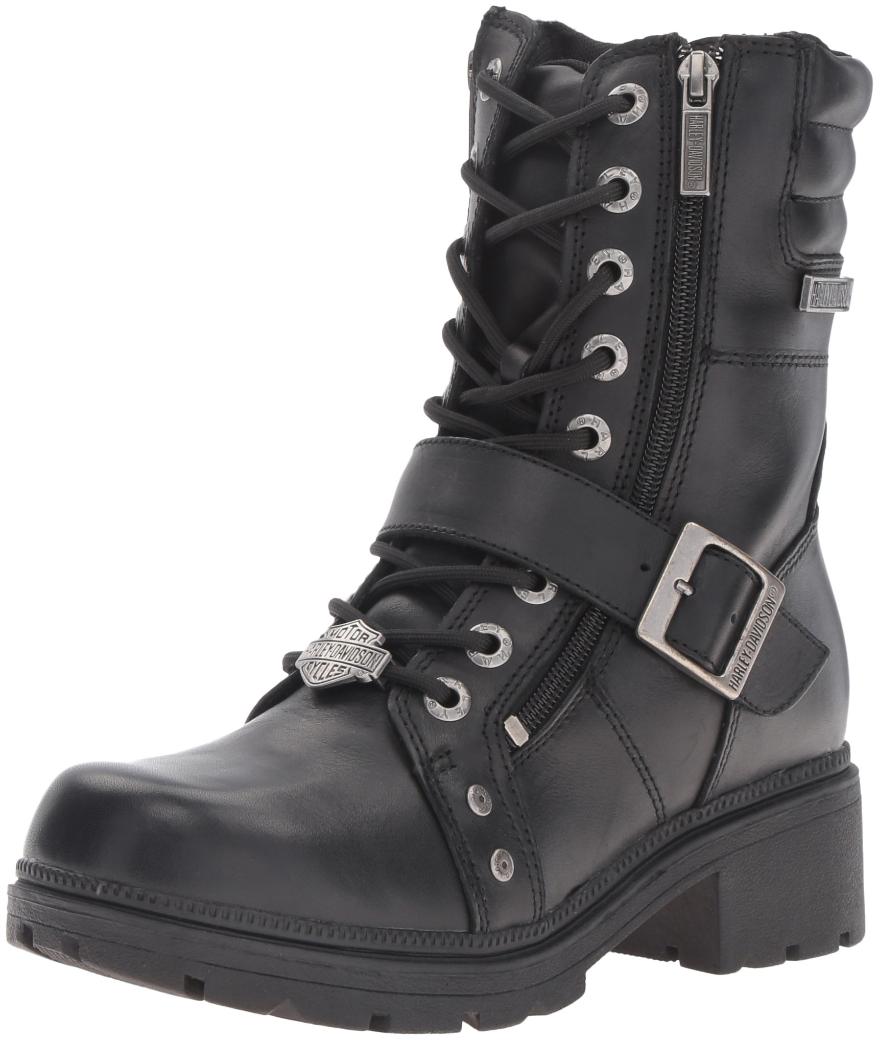 Harley-Davidson Women's Talley Ridge Motorcycle Boot, Black, 7 M US