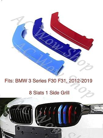kompatibel mit B M W 3er 3GT GT F34 Grand Tourismo 2013-heute 11 Bars Motorhaube K/ühlergrill Streifen Abdeckung M Performance Power Sport Tech Paket Abzeichen