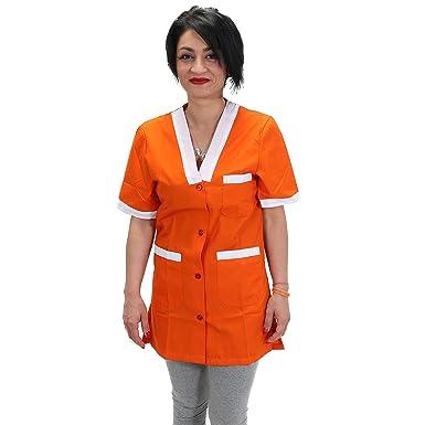 Petersabitidalavoro Camice da Lavoro Donna,Maestra Asilo,Imprese Pulizia,Professionale,Operaia,Colore Verde
