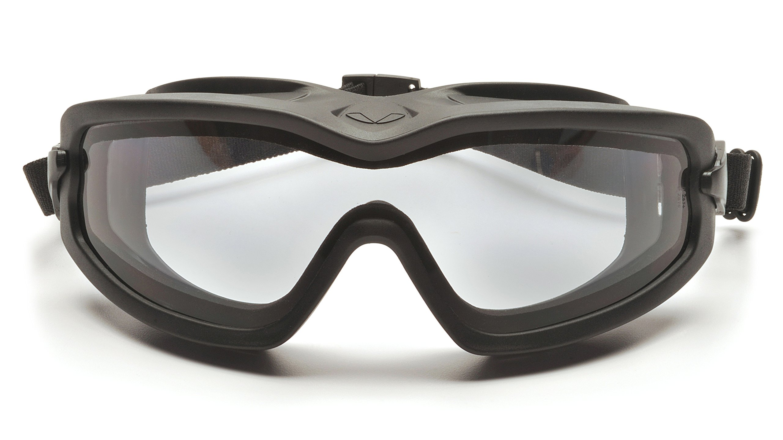 Pyramex V2G Safety Goggles with Adjustable Strap, Black Frame, Dual Clear H2X Anti-Fog Lens by Pyramex Safety (Image #4)