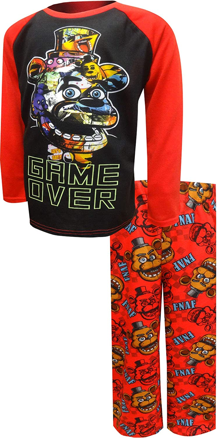 BioWorld Merchandising Boys Five Nights at Freddys Game Over Pajama Set