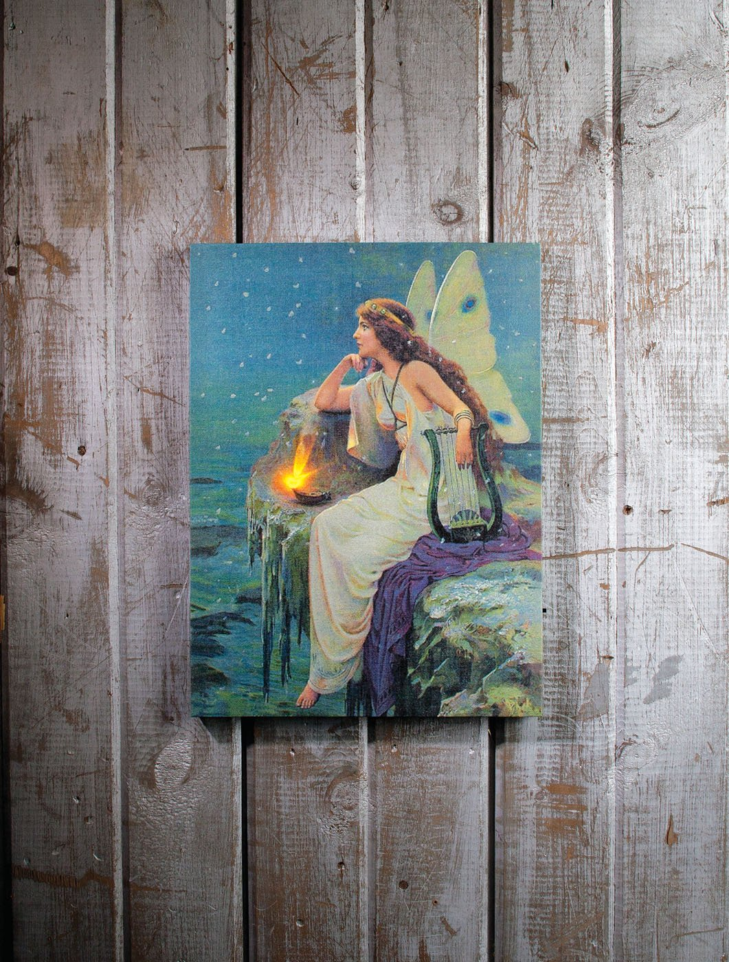Ohio Wholesale Everyday Collection Radiance Lighted Butterfly Fairy Canvas Wall Art