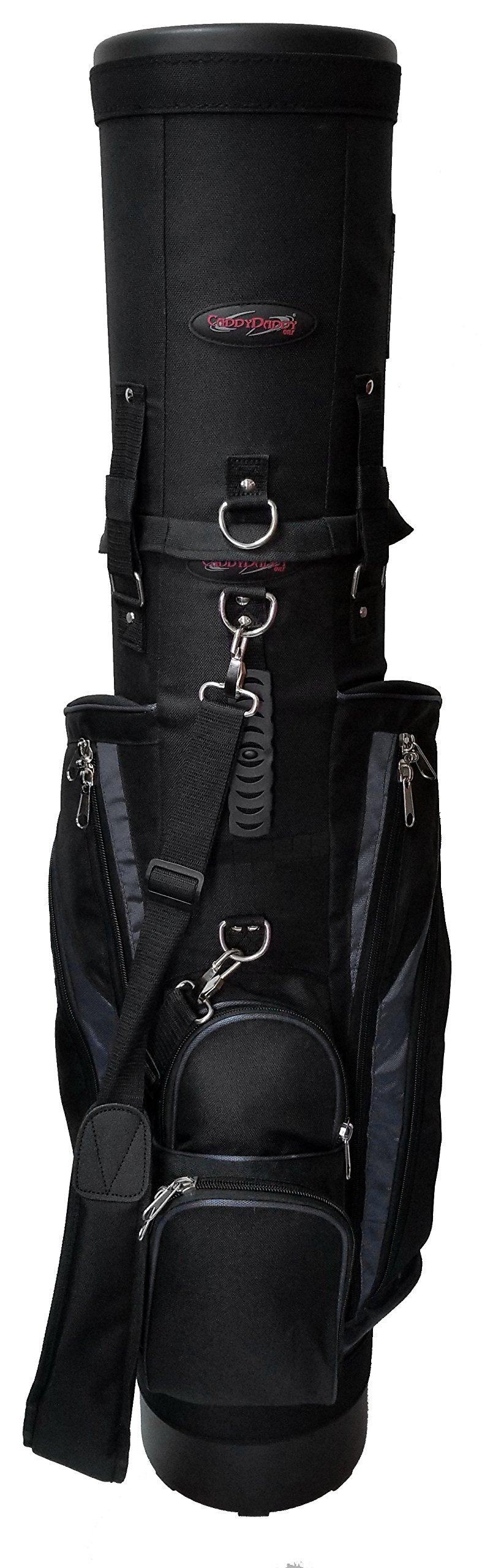 CaddyDaddy Golf Co-Pilot Pro 2 Hybrid Travel Case (Black/Grey) by Caddy Daddy