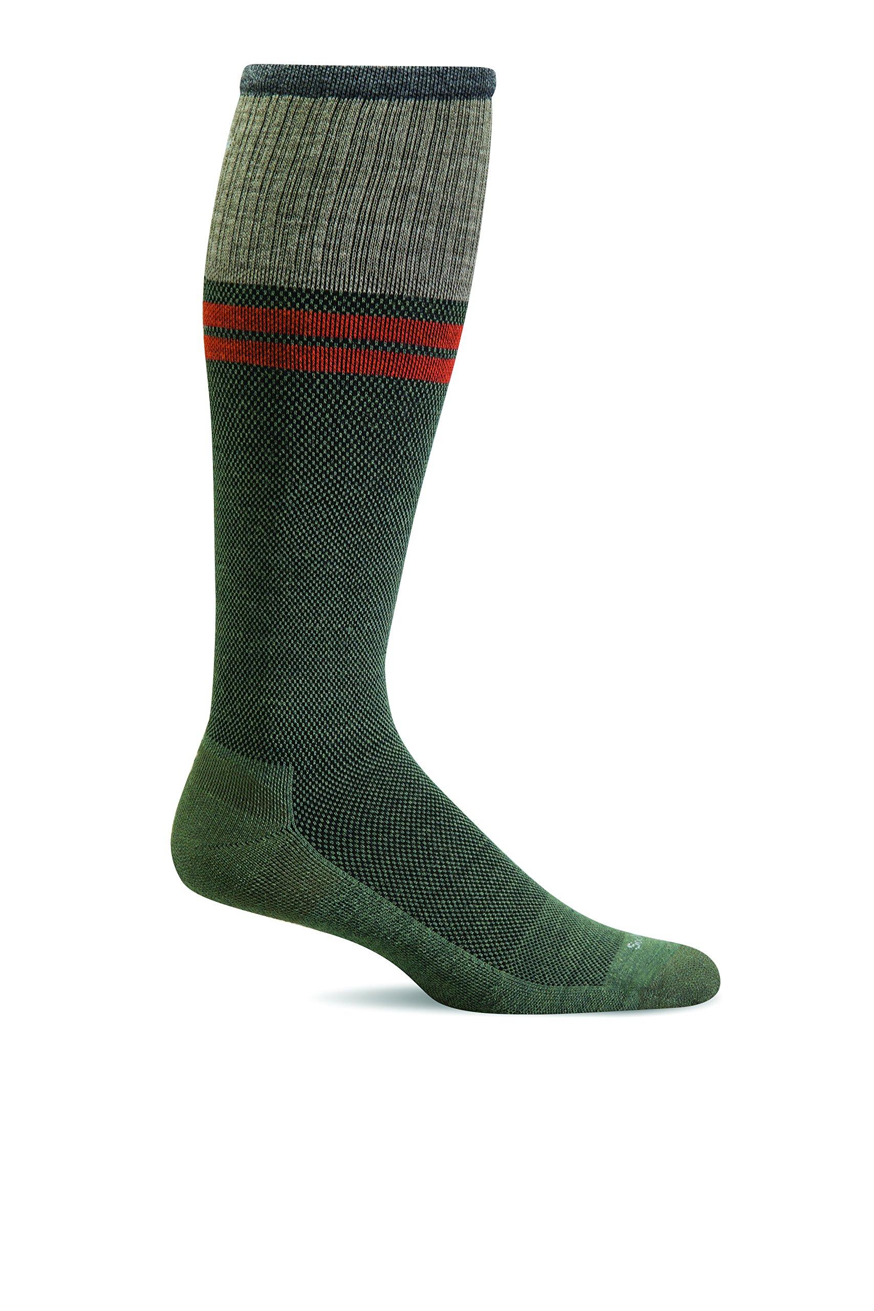 Sockwell Mens Wool Moderate Sportster Compression Socks (Eucalyptus, M/L)