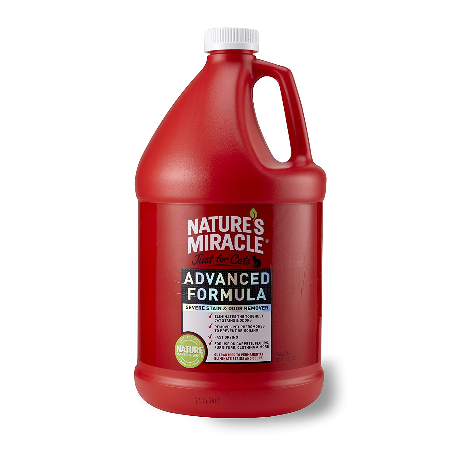 Nature's Miracle juste pour chats Advanced taches et odeurs Formule 3 628, 7 gram (Gallon) United Pet Group P5724
