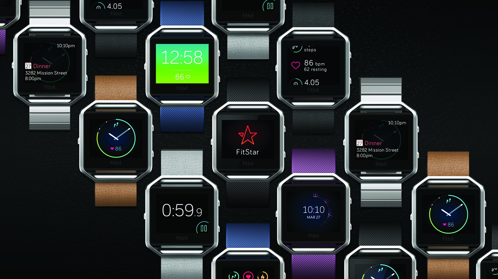 Fitbit Blaze Smart Fitness Watch, Black, Silver, Large (US Version) by Fitbit (Image #5)