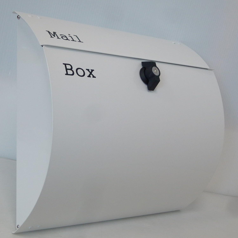 郵便ポスト郵便受け北欧風メールボックス壁掛けプレミアムステンレス白色ポストpm064-1 B072FKGZC9 10880
