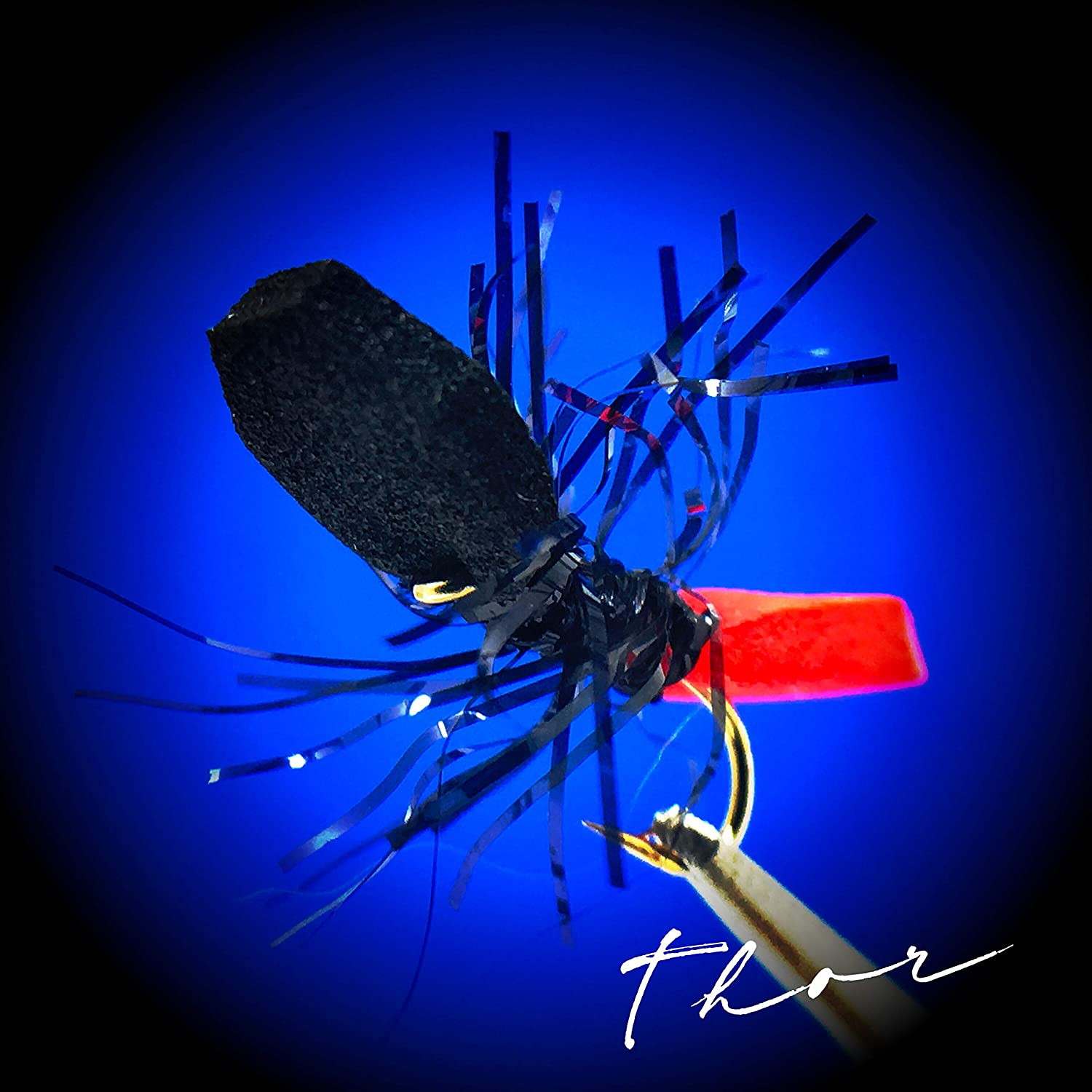 Thor Outdoor Frantic Ant Fly Fishing Set Hook Sizes 14 Panfish Trout 3 Pc Topwater Foam Flies Assortment for Bass