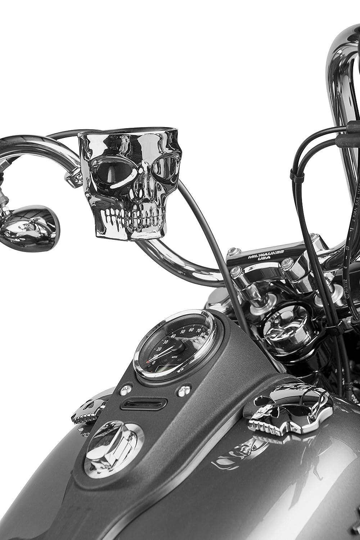 Kruzer Kaddy Kruzer Kustom Kaddy Chrome Skull Motorcycle Cup Holder HANDLE BAR Mount