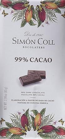 Simón Coll - Tableta de chocolate, 99% cacao), 85 gr, 1