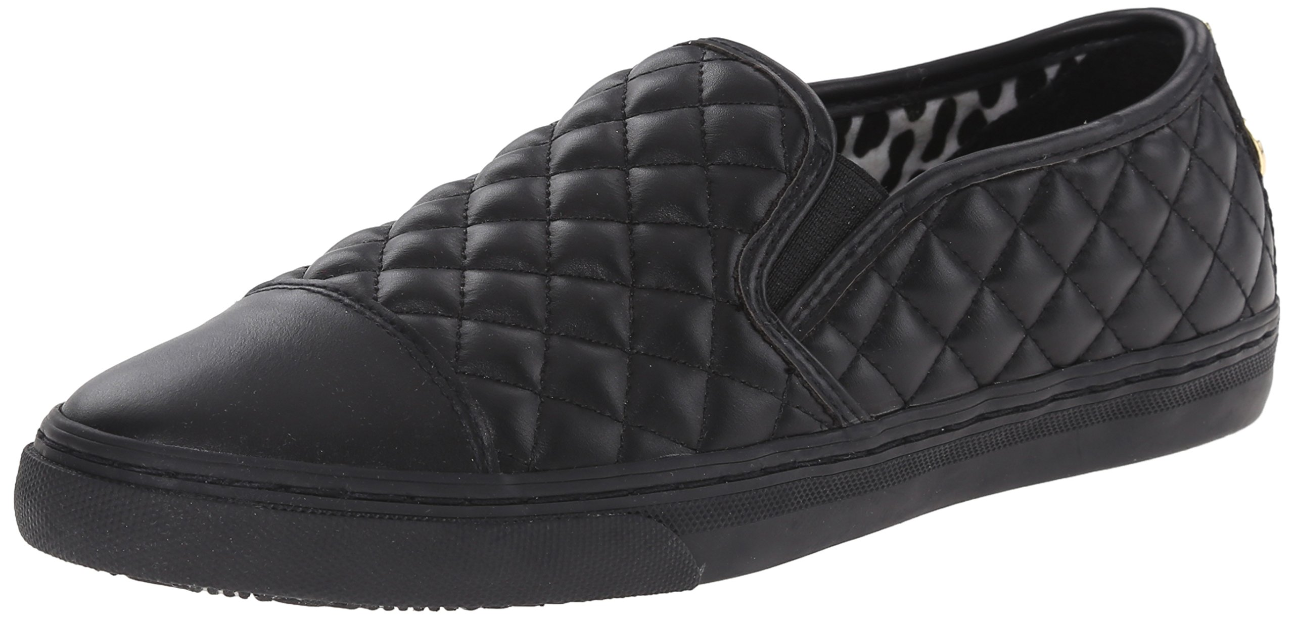 Geox Women's New Club Low Top Fashion Sneaker, Black, 37 BR/7 M US