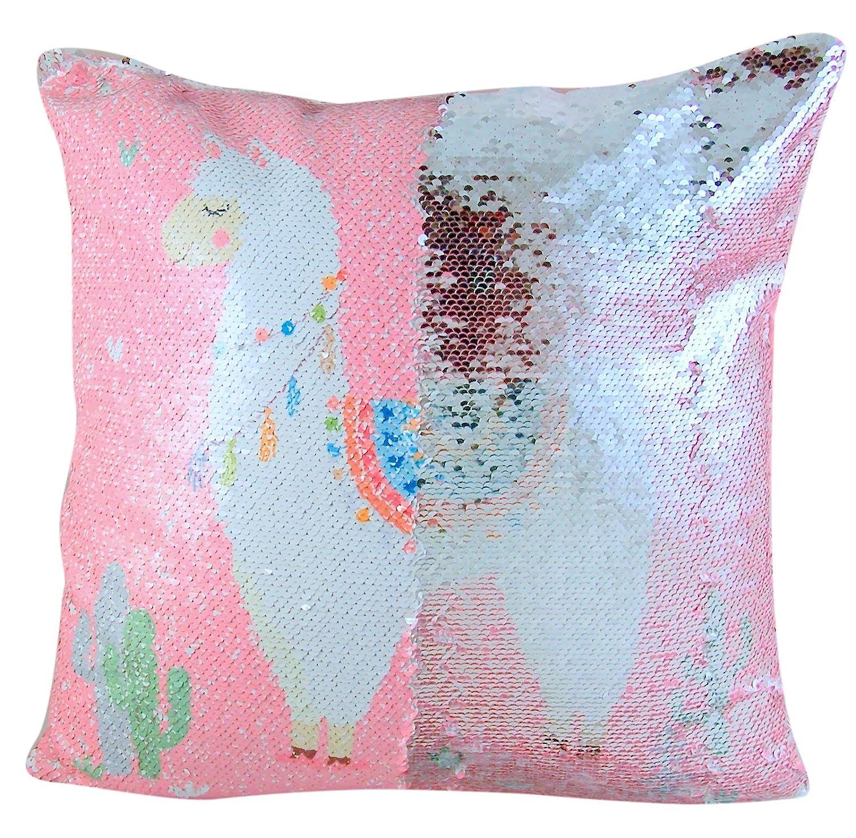 Amazoncom Throw Pillows Reversible Magic Sequin Llama With