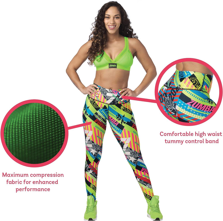 Zumba Fitness Zumba Workout High Waist Leggings Stilvoll Fitness Gym Kompression Sporthose Damen Donna
