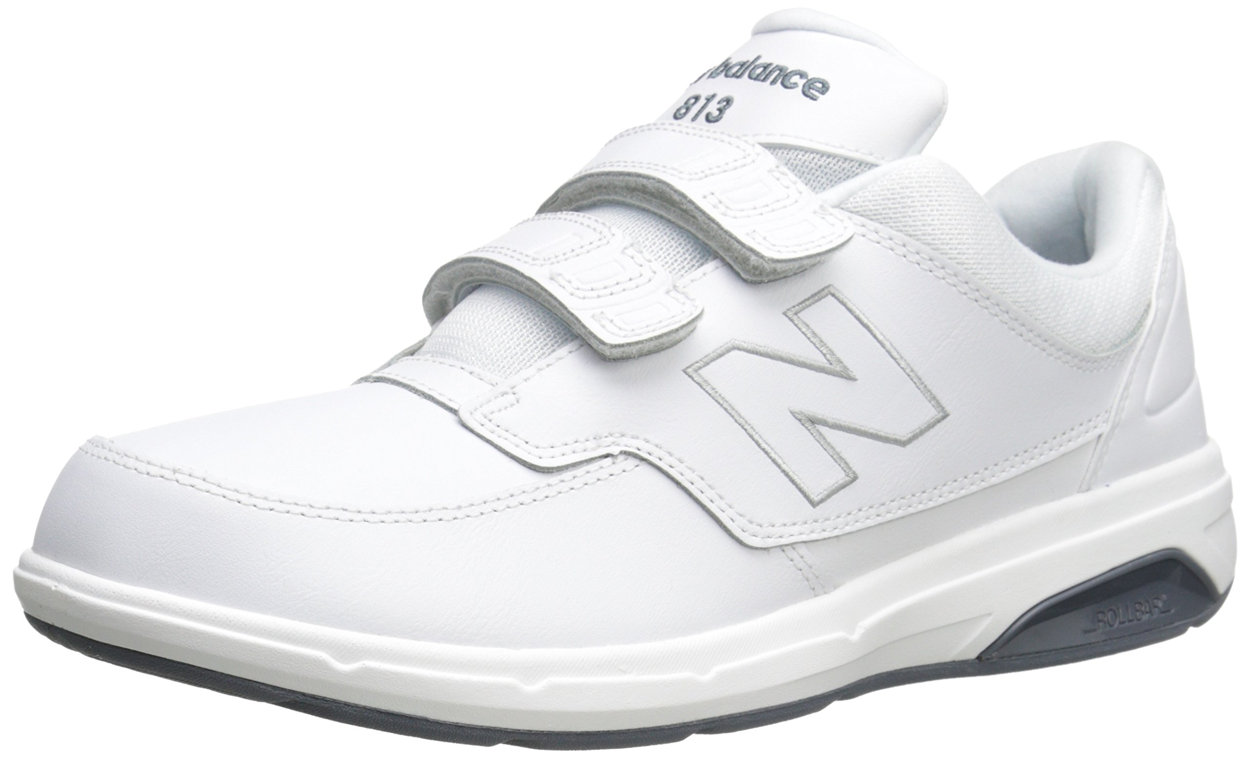 New Balance Men's MW813V1 Hook and Loop Walking Shoe, White, 10.5 2E US by New Balance