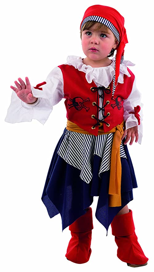 Limit Sport MB252 - Disfraz de pirata para nia (talla 1, incluye vestido,
