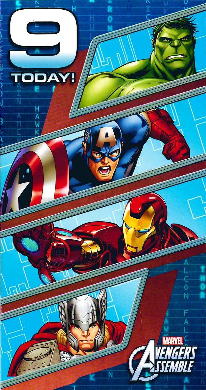 Amazon.com: Carlton – Marvel Avengers Super Heroes – 9 Hoy ...