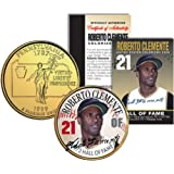 ROBERTO CLEMENTE *Hall of Fame* Legends Pennsylvania Quarter US Gold Plated Coin