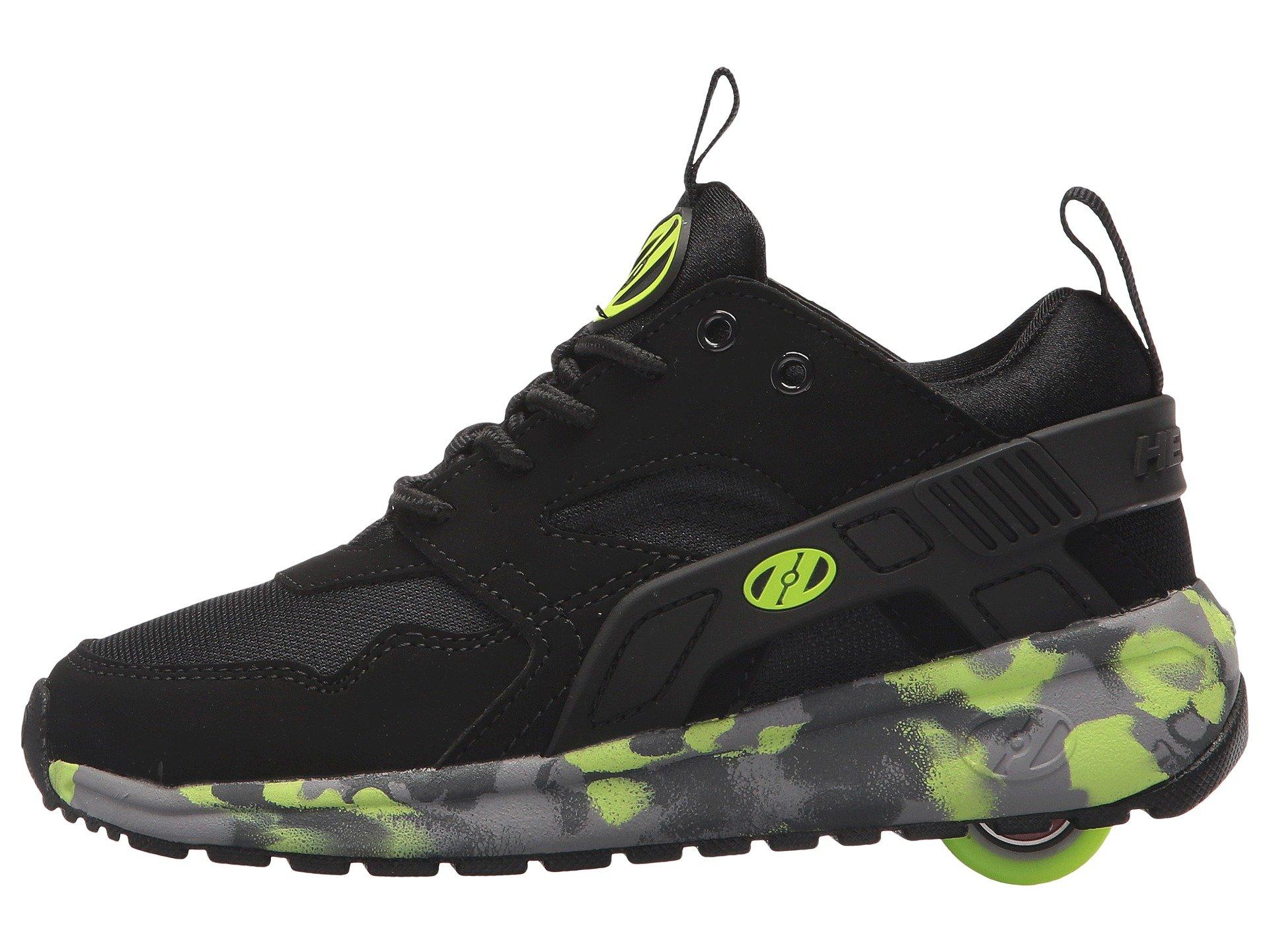 Heelys HE100095H Kid's Force Sneakers, Black/Brightyellow/Confet - 8 by Heelys (Image #6)