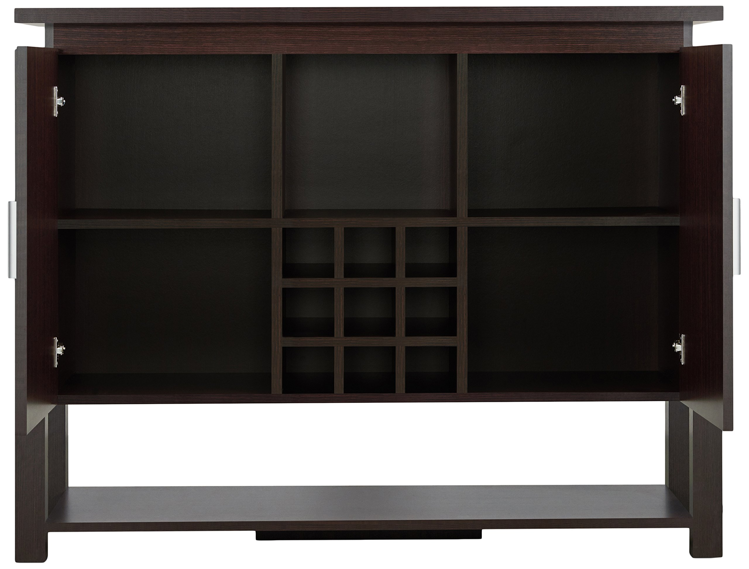 HOMES: Inside + Out HFW-1770C4 Toff Buffet Table Walnut Modern