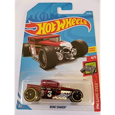 Hot Wheels 2020 Hw Game Over 4/5 - Bone Shaker (Red): Toys & Games