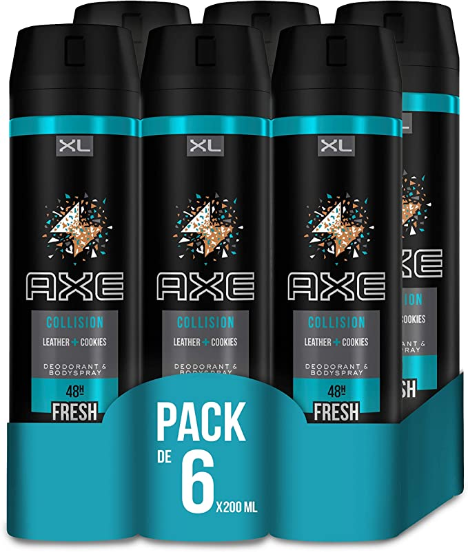 AXE Bodyspray Desodorante Leather and Cookies 200 ml - Pack de 6 ...