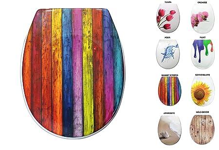 Marvelous Sanwood 6162800 Toilet Shabby Stripes Made Of Duroplast Short Links Chair Design For Home Short Linksinfo