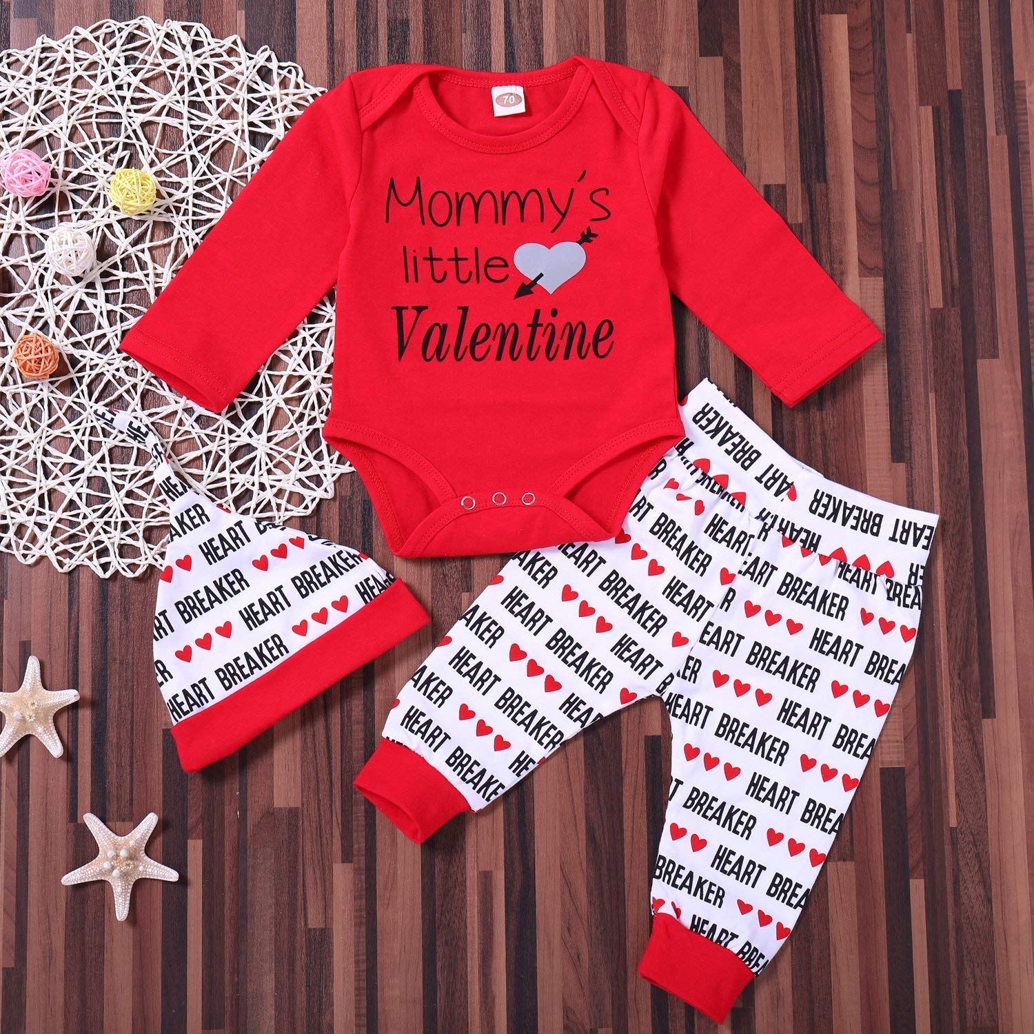 5159372ed Amazon.com  Mommys Little Valentine Onesie Newborn Outfit Baby ...