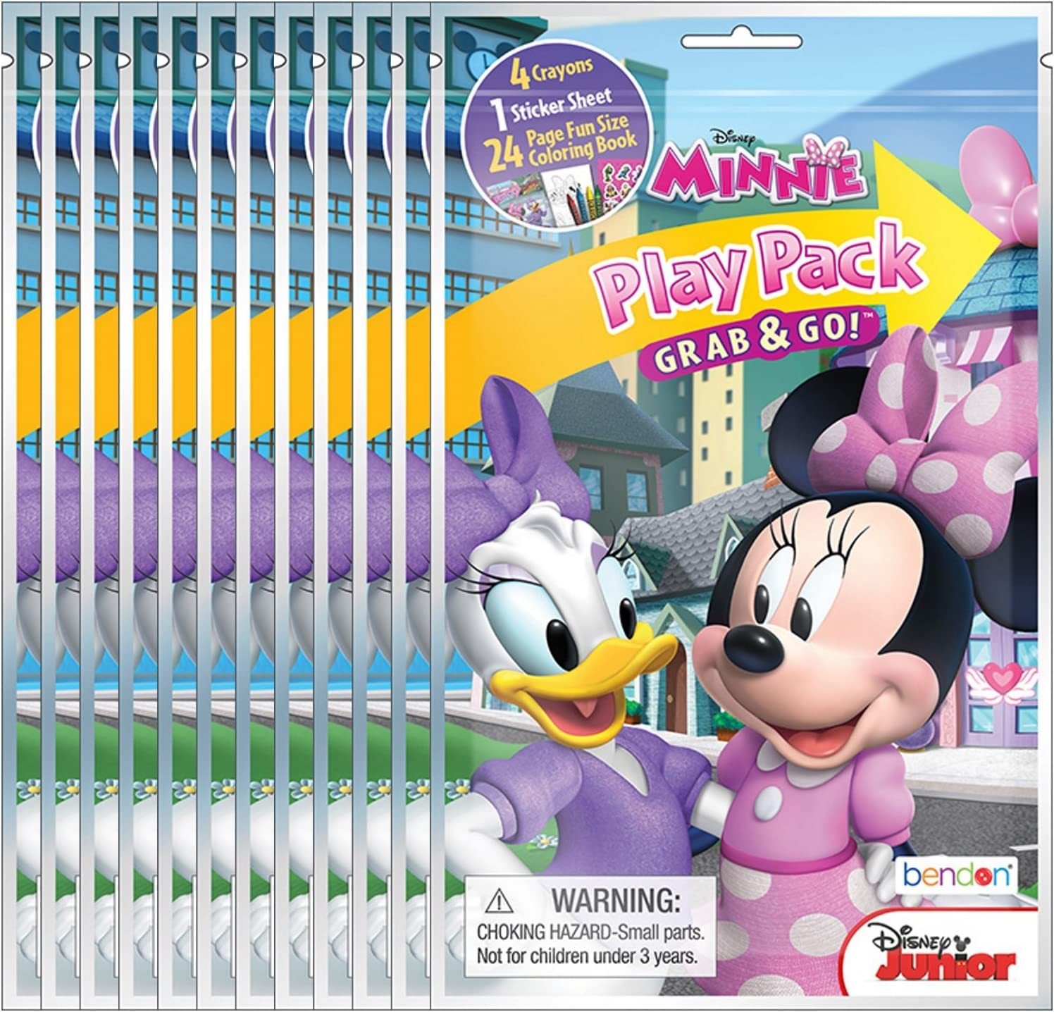 Bendon Disney Minnie Mouse Grab and Go Play Packs Pack of 12