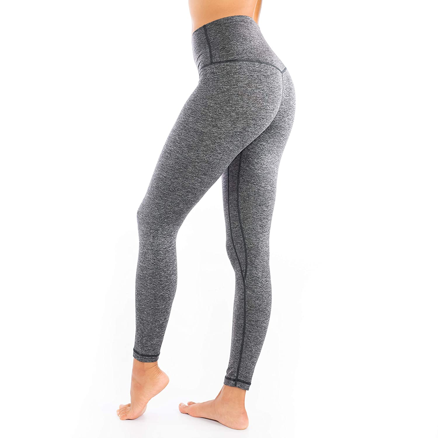 High Waisted Yoga Pants - Buttery Soft Gray - Medium