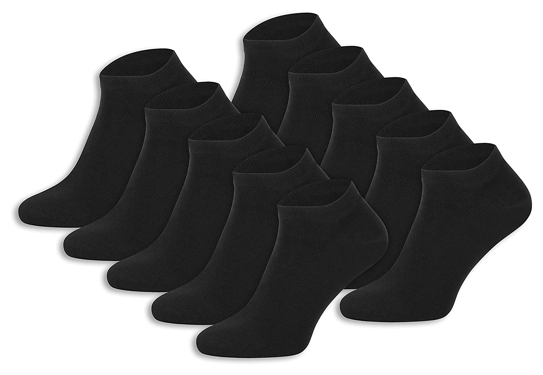 Burnell & Son 10 Paar | Sneaker Socken aus Baumwolle | für Damen & Herren | Atmungsaktiv | Kurze Sneakersocken für Sport & Freizeit | Made in Europe