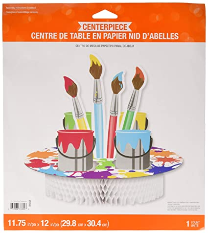 Amazoncom Creative Converting 317728 Art Party Centerpiece 1175
