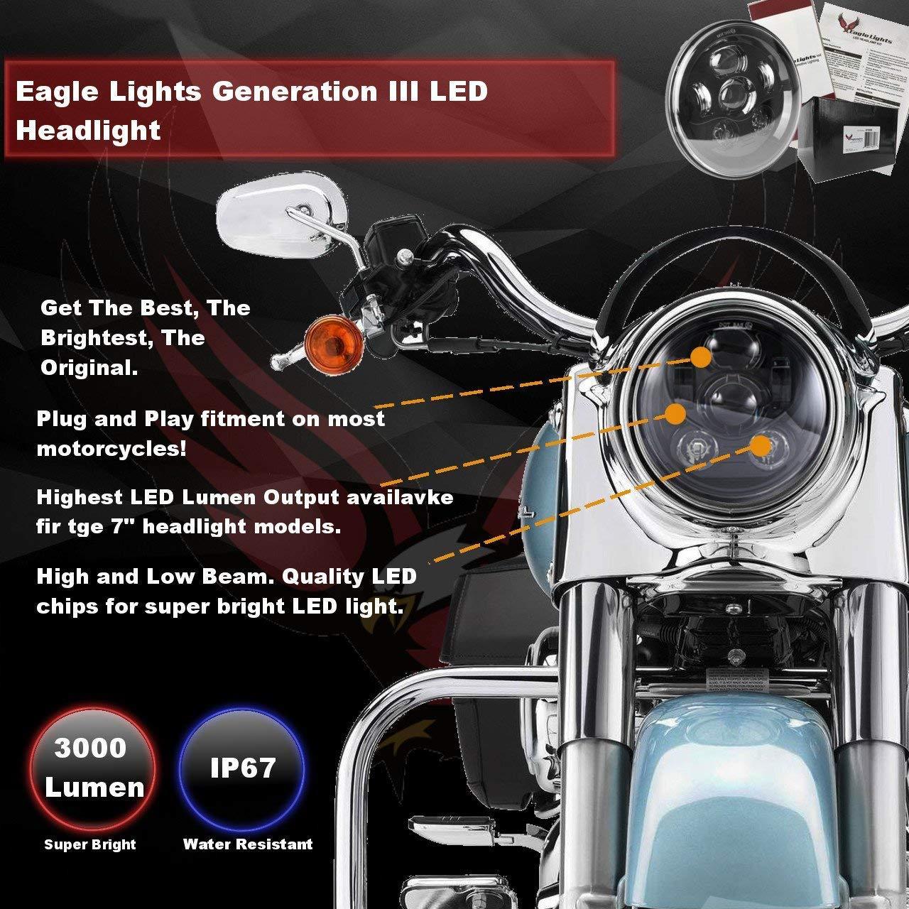 Amazon Com Eagle Lights 7 Round Led Generation Iii Headlight
