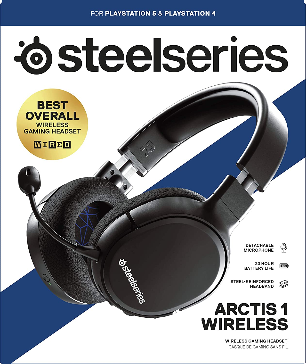 Steelseries Arctis 1 Wireless Gaming Headset Usb C Wireless Detachable Clearcast Microphone For Ps4 Pc Nintendo Switch Android Black Playstation 4 Games