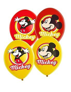 COOLMP - Lote de 3 Globos de látex de Mickey Mouse Amarillo ...