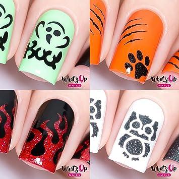 Amazon Halloween Nail Vinyl Stencils 4 Pack Boo Kitty