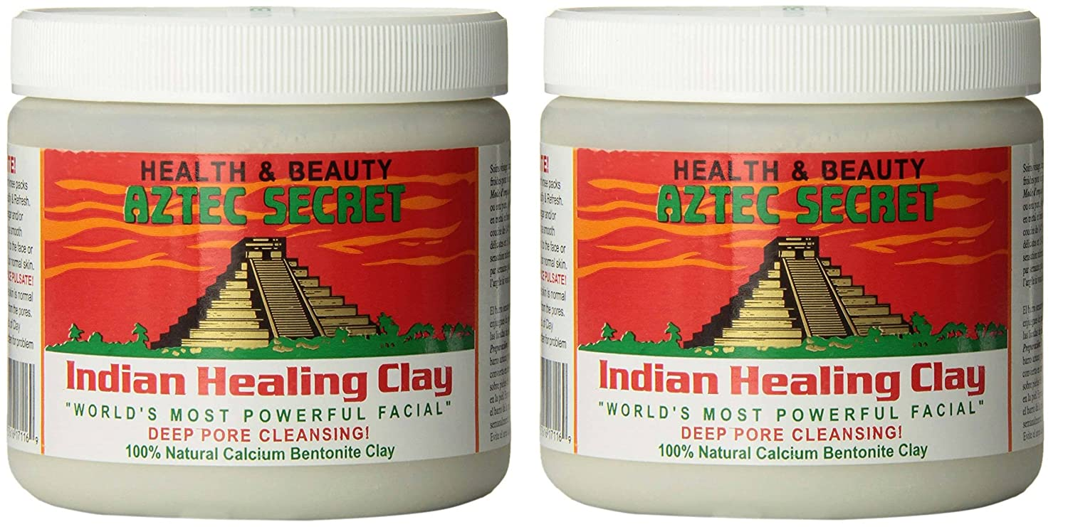 Aztec Secret Indian Healing Clay Deep Pore Cleansing, 1 Pound (2 Pack)