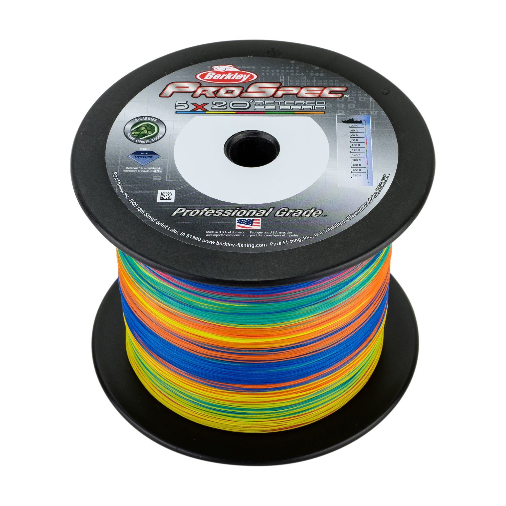 Berkley Psmbbk50-Mt Prospec 5X20' Metered Braid Fishing Line, 1500 yd/ 50 lb by Berkley