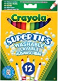 Crayola 12 Bright Colour Supertips Pens