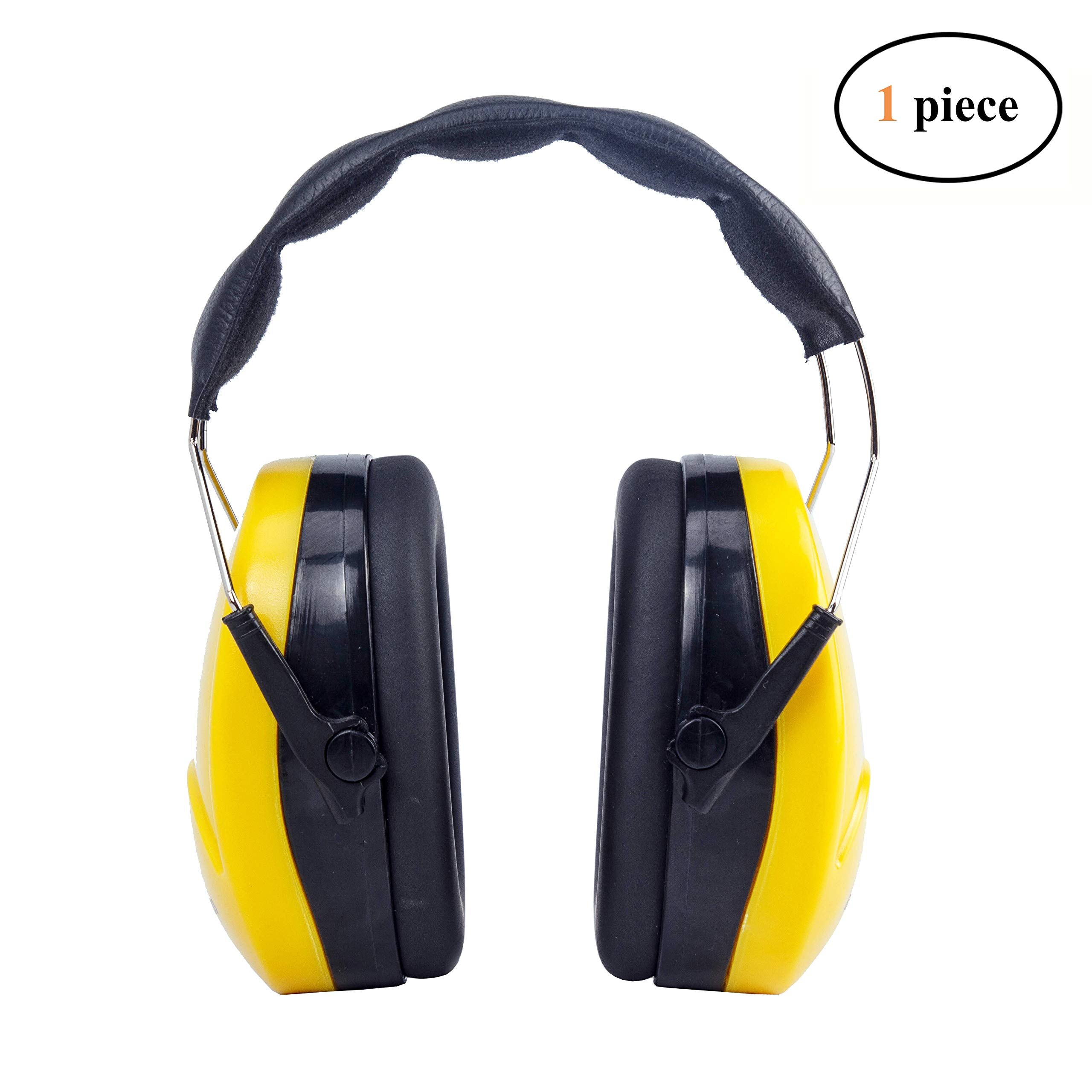 Golden Scute Noise Cancelling Adjustable Safety Ear Muffs Padded Headband Soft Ear Cushions, Noise Protection, Professional Ear Defenders High Noise Reduction Rating